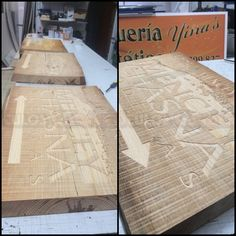 CARTELES DE MADERA TALLADOS (10) Butcher Block Cutting Board, Rustic Feel, Entryway