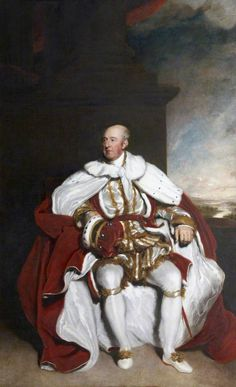 John Rolle, 1st Baron Rolle (1750–1842) in his peerage robes. Portrait by Thomas Lawrence (1769–1830).