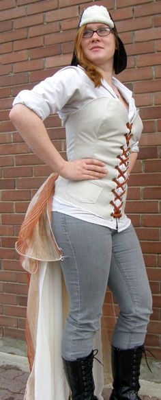 Items similar to Made to Order Women's Small, Steam Punk, Corset Bustle on Etsy Bustle, Steam Punk, Custom Made, Perfect Fit, Corset, White Jeans, Create Your Own, Capri Pants, Ribbon