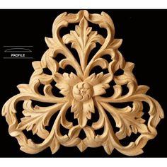 FLR-31:Fret Carved Triangular Rosette Flower