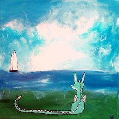 Dragon Art Print Kids Wall Art Nursery Decor Fairy by andralynn, $12.50 (Another Andrea Doss)