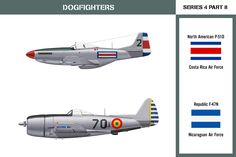 Dogfighters Series 4 Part Mustang vs Republic Thunderbolt A North American Mustang of the Costa Rica Air Force and a Republic Thunderbolt. Dogfighters Series 4 Part 8 Military Weapons, Military Aircraft, Fighter Aircraft, Fighter Jets, Series 4, Wwii, Mustang, Air Force, Aviation