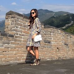 Taking in the views from the Great Wall #greatwall #beijing #ootd