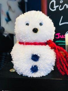 Snowman Pom Pom Decoration