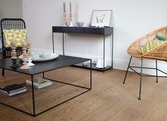Table basse en metal carrée et design Allure