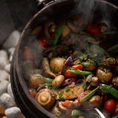 Enjoy this scrumptious vegetarian recipe for a South African favorite - Mushroom Potjie Braai Recipes, Cooking Recipes, Savoury Recipes, South African Recipes, Mexican Food Recipes, Indian Recipes, Healthy Diet Recipes, Vegetarian Recipes, Healthy Eating