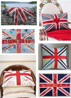 1x Tapestry Kit Cushion Living Red Bus Union Jack Sewing Craft Tool Art