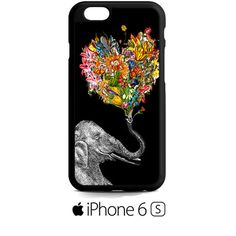 Floral Elephant art iPhone 6S  Case