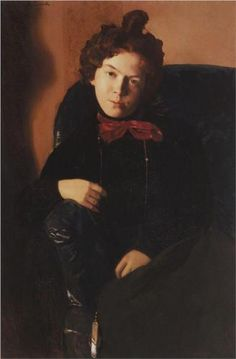 Portrait of Anna Ostroumova-Lebedeva - Konstantin Somov