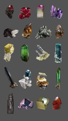 Mineral studies, Laurence Viollet on ArtStation at https://www.artstation.com/artwork/mineral-studies