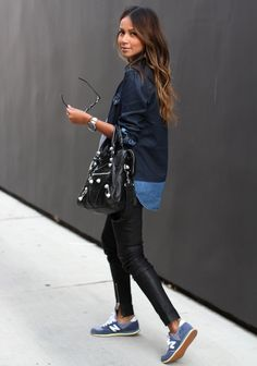 Sincerely Jules: leather, denim and sneakers