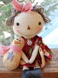 WINTER~クリスマス > カントリーアニードール&スノーマン