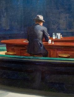 Edward Hopper, Nighthawks (detail), 1942. Edward Hopper was a prominent American realist painter and printmaker. While he was most popularly known for his oil paintings, he was equally proficient as a watercolorist and printmaker in etching.