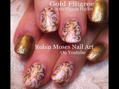 4 Nail Art Tutorials | DIY Fall Filigree Nails for beginners! Short nail Art - YouTube