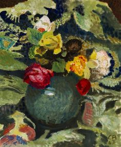 ❀ Blooming Brushwork ❀ - garden and still life flower paintings - Cuno Amiet