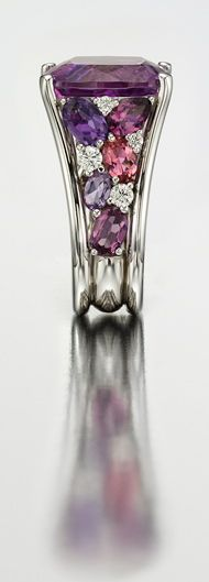 Mark Patterson Kunzite , Rubellite and Diamond Ring.