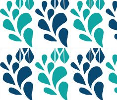 Spring Bloom Teal - Gift Paper designed by KanalShah