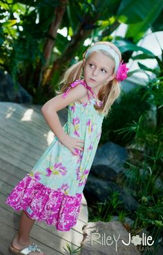 Faith's Shirred Sundress PDF Sewing Pattern for girls by Create Kids Couture