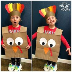 5 turkey crafts for kids Simple Thanksgiving crafts to entertain children at ThanksgivingUse tin cans to make these festive DIY turkeys. Vacation Thank you diy crafts kids Paper bag turkey craft Turkey Crafts For Preschool, Fall Preschool, Daycare Crafts, Toddler Crafts, Thanksgiving Crafts For Kids, Holiday Crafts, Thanksgiving Turkey, Thanksgiving Activities, Thanksgiving Costume
