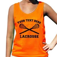 Custom Team Lacrosse Pinnie - Our 100% Polyester mesh pinnies are the top choice for comfort and performance. This reversible pinnie is moisture wicking and anti-microbial keeping you dry, odor free and comfortable.