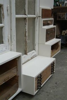 Piet Hein Eek. Set of drawers. I like the combination of white (MDF?) with wood. Simple, but beautiful.