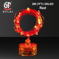 LED String Lights Copper Wire 2M 7FT 20 Multi-color Light Battery Powered Wedding Party Decoration 6 Pcs/Lot Free Shipping Now