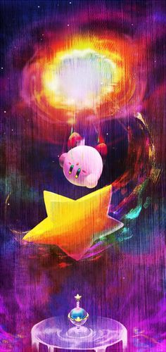 kirby and star by rike-e.deviantart.com on @deviantART