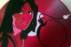 Joan Jett Cherry Bomb Record Art Made To Order by tigerbee on Etsy