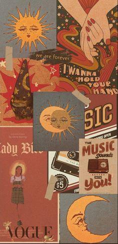 Wallpaper Iphone Cute, Pretty Wallpaper Iphone, Retro Wallpaper, Cartoon Wallpaper, Trippy Wallpaper, Hippie Wallpaper, Art Wallpaper, Iphone Wallpaper Vintage, Edgy Wallpaper
