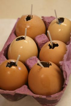 Eggy Crafts Beeswax Candles In Egg