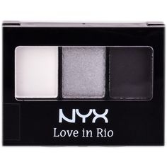 NYX Love In Rio Eye Shadow Palette ($12) ❤ liked on Polyvore featuring beauty products, makeup, eye makeup, eyeshadow, nyx eye shadow, nyx, palette eyeshadow and nyx eyeshadow