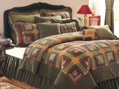 Tea Cabin Bedding from Allyson's Place: http://allysonsplace.com/catalog.php?item=6229. See more country products such as these in Country Sampler's Christmas 2015 issue: https://www.samplermagazines.com/detail.html?prod_id=165&cat_id=16&source=PIN-FPXMAS15