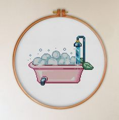 Cross Stitch Hoop, Baby Cross Stitch Patterns, Simple Cross Stitch, Cross Stitch Designs, Embroidery Patterns, Print Patterns, Everything Cross Stitch, Creative Arts And Crafts, Back Stitch
