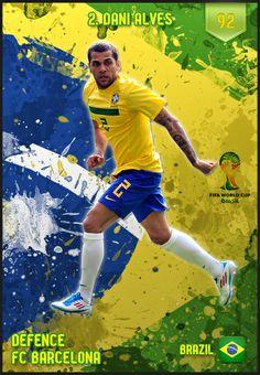 #DaniAlvez Brazil FIFA World Cup 2014 Lineup