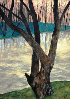 1930 Léon Spilliaert was a Belgian symbolist painter and graphic artist. New Artists, Great Artists, Nocturne, Tree Art, Landscape Paintings, Photo Art, Pastels, Modern Art, Illustration Art