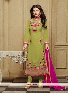 Spellbinding Green Churidar Designer Suit