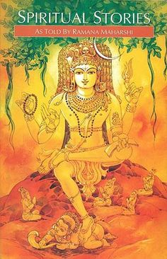 Spiritual Stories As Told by Ramana Maharshi Shiva Parvati Images, Shiva Hindu, Lord Krishna Images, Shiva Shakti, Hindu Deities, Hinduism, Hindu Art, Lord Ganesha Paintings, Spiritual Paintings