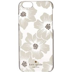 Kate Spade New York Jeweled Hollyhock iPhone Case for iPhone 6 (Clear)... ($45) ❤ liked on Polyvore featuring accessories, tech accessories, iphone sleeve case, rhinestone iphone case, apple iphone cases, iphone cover case and iphone cell phone cases
