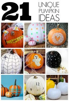 Is everyone pumpkinned and autumned out yet? If not, here ya go... 21 Unique pumpkin ideas - via @thecraftblog