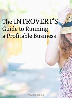 @Iterate7, an introvert and entrepreneur, shares tips on how to run a successful business.