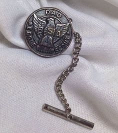Vintage BSA Boy Scouts of America Eagle Scout Dad Tie Tack Pin Father's Day Gift