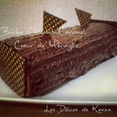 Buche Chocolat Caramel Coeur de Meringue