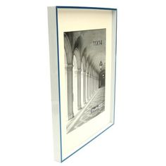 Studio 500 Modern Striped Clean Cut Picture Frame Color: Blue
