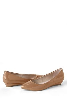 Women's Point Toe Mini Wedge Shoes