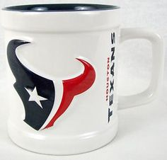 NFL Houston Texans Football Mug Coffee Tea Cocoa Cup 11 oz OFFICIAL LICENSED