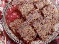 This delicious fruit cake was cooked with mixed fruit, apple, honey, sugar and a splash of rum.