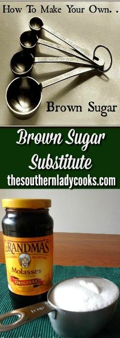 HANDY FOOD TIP OR DIY ON HOW TO  MAKE YOUR OWN BROWN SUGAR TO USE AS A SUBSTITUTE IN RECIPES.