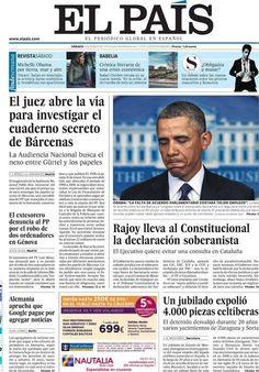 Los Titulares y Portadas de Noticias Destacadas Españolas del 2 de Marzo de 2013 del Diario El País ¿Que le parecio esta Portada de este Diario Español?