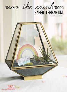 Rainbow Paper Terrarium // DIY here: http://thepapermama.com/2013/03/paper-rainbow-terrarium.html