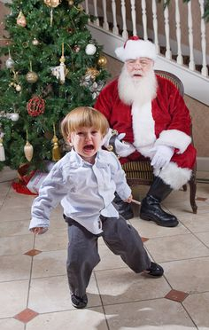 'Tis the Season: 25 Funny Pictures of Kids with #Santa